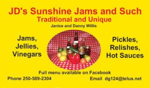 JD's Sunshine Jams & Such @ Metchosin's Farmers Market | Victoria | British Columbia | Canada
