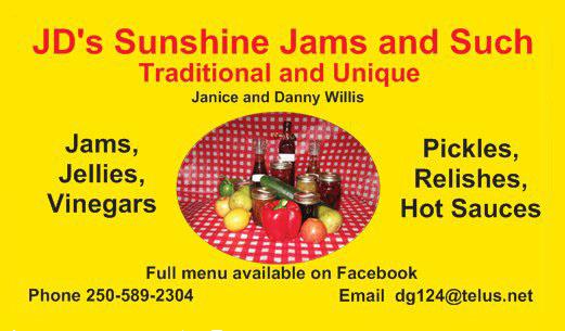 JD's Sunshine & Such Banner