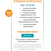 O'Doughs Sample Pack copy