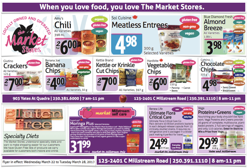 Gluten-Free Flyer The Market Stores