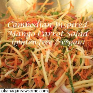 gluten free mango carrot salad IG