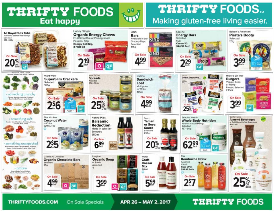 gluten free flyer thrifty foods