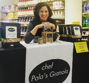 chef pola at stong's granola