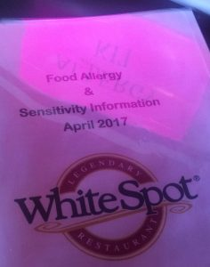 Food Allergy Sensitivity Information