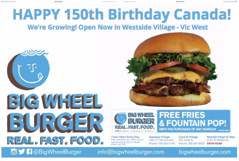 Free Coupon Big Wheel Burger