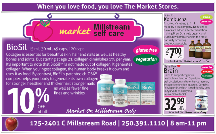 The Market Stores gluten-free supplements