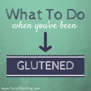 how to handle getting glutened