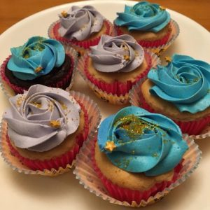 Happyditty Blue Purple Icing Cupcakes