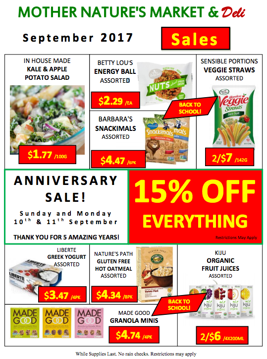 Mother Nature's 5th Anniversary Sale 1