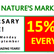 Mother Nature's 5th Anniversary Sale