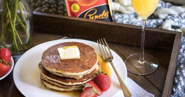 Sante Serves Pamela's Pancakes FB