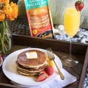 Sante Serves Pamela's Pancakes WP