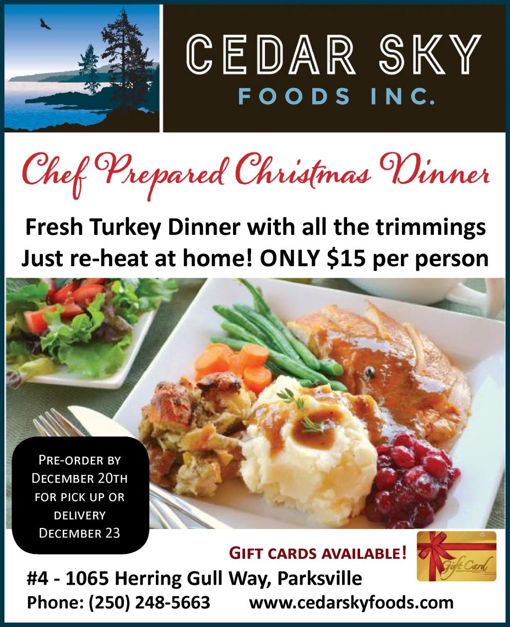 Cedar Sky Christmas Dinner