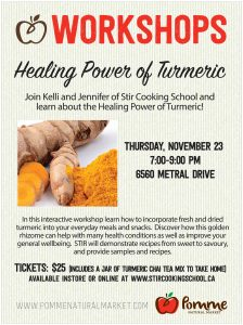 Healing Power of Turmeric Workshop @ Pomme Natural Market Nanaimo | Nanaimo | British Columbia | Canada