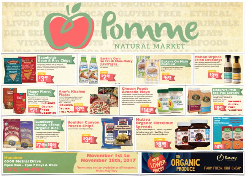 Pomme Natural Market Gluten-Free Flyer