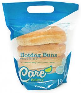 care bakery hotdog buns