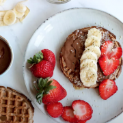 Waffles With Tahini Cacao