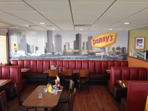 back of the menu dennys interior