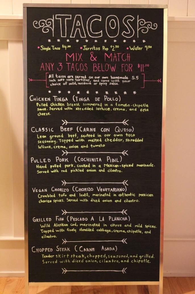 Taco Revolution menu