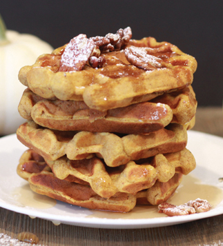 Cloud 9 Specialty Bakery One Bowl Pumpkin Spice Waffles