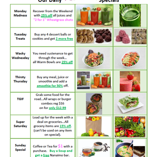 Rawthentic Daily Specials wp