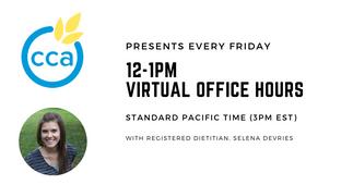 Selena De Vries, CCA Virtual Hours biz card