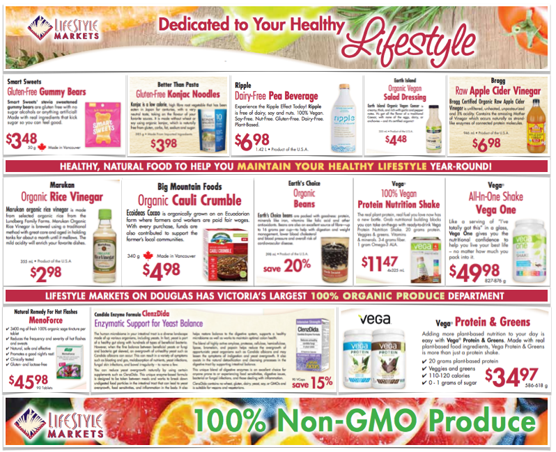 Lifestyle Markets Gluten Free Flyer January 2019