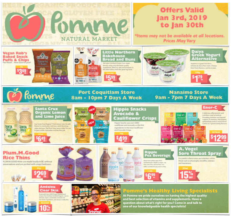 Pomme Natural Market January 2019 Flyer