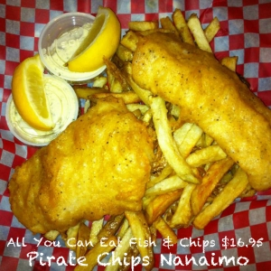 All You Can Eat Fish & Chips @ Pirate Chips