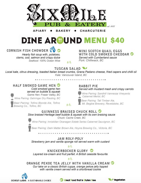 Six Mile Pub Dine Around $40