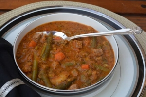 Leek and Split Pea Soup with Pistou