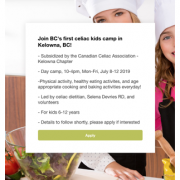 kelowna celiac kids camp selena de vries wp