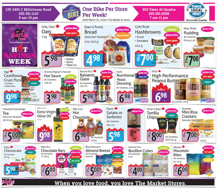 The Market Stores Gluten-Free Flyer