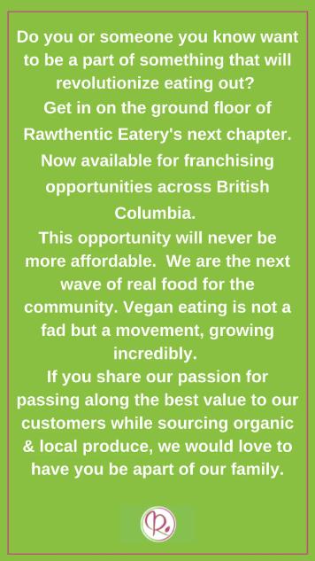 rawthentic eatery franchise
