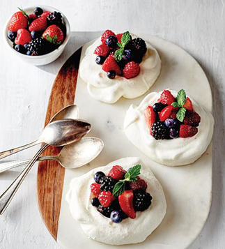 wild poppy meringue nests