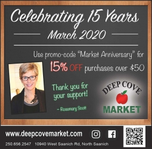 15% Off - 15th Anniversary Sale @ Deep Cove Market