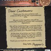 Pepper's Foods Public Notice