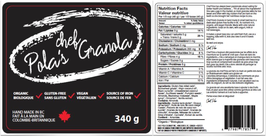 chef Pola Granola Label