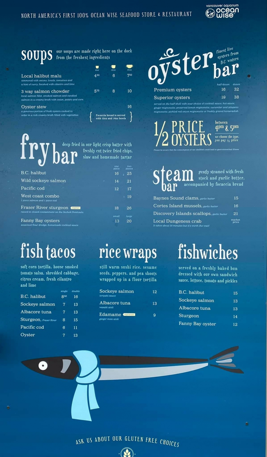 Floating Fish Store Winter Menu