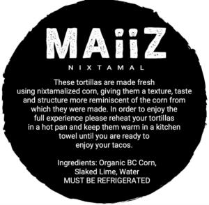 Maiiz reheating instructions
