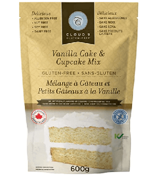 Cloud 9 Gluten Free Vanilla Cake & Cupcake Mix WP