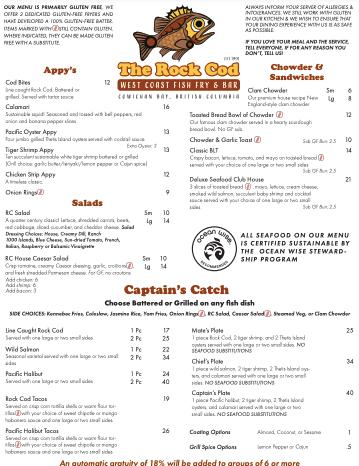 Rock Cod Cafe Lunch & Dinner 1