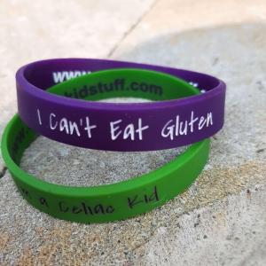 celiac kid stuff wristband x 2